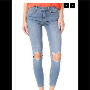Free People Busted Knee Skinny Size 29R